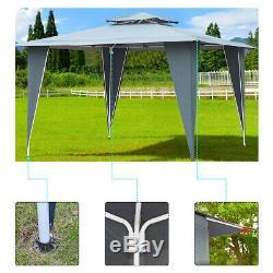 Garden Gazebo Waterpoof Canopy Vented Tent Roof Heavy Duty Steel Frame Portable