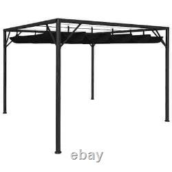 Garden Gazebo with Retractable Roof Canopy BBQ Party Sunshade Roof Patio Awning