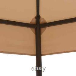 Garden Marquee Gazebo Pavilion Tent Beige 127.2x104.3