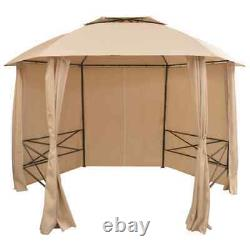 Garden Marquee Pavilion Tent with Curtains 11' 9x8' 8