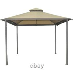 Garden Patio Outdoor Gazebo Shade Canopy 10x10 Large Shelter Steel Metal Frame