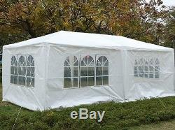 Gazebo 3m x 6m Tent Marquee Party Awning WHITE Side Panels Waterproof Versatile