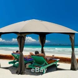 Gazebo Patio Canopy Fully Enclosed Tent Shelter Removable 4 Walls Outdoor Sheltr