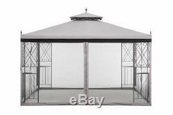 Gazebo Patio Yard Shelter 10 x 12 Ft Deck Waterproof Sun Shade Mesh Netting Sale