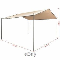 Gazebo Pavilion Tent Canopy 13' 1x13' 1 Steel Beige