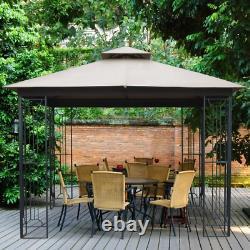Gazebo Soft Top 10 Ft. W x 10 Ft. D Steel Frame Backyard Garden
