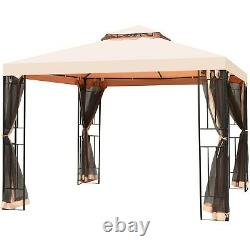 Gazebos For Patios On Clearance 10x10 With Mosquito Netting Canopy Sun Shelter