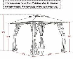 Grand Patio Lawn Pop-up Patio Gazebo with Black Metal Steel Frame Outdoor Canopy