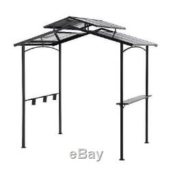 Grill Gazebo Hardtop Polycarbonate Panel Top Stain Resistant Hook Small BBQ Tool