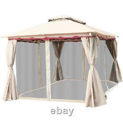 Gymax 13'X10'outdoor Canopy Gazebo Art Steel Frame Party Patio Canopy Gazebo
