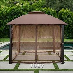 Hanover MORNVLGAZ-TAN Morning Vale Aluminum and Steel Gazebo with Mosquito