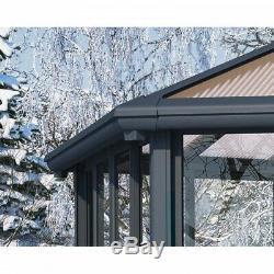Hardtop Gazebo Enclosed 20 x 20 Aluminum Frame Sidewalls Polycarbonate Panels
