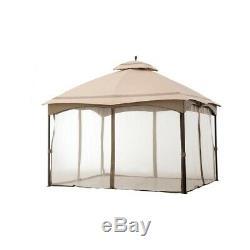 Heavy Duty Steel Patio Gazebo 12X10 ft. With Pergola, Canopy Roof, Metal Frame