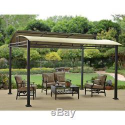 Large Metal Gazebo Canopy Pergola Tend Steel Frame 12x10 Outdoor Patio Shade