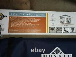 MOSAIC 13' x 13' ONE PUSH GAZEBO STEEL FRAME INSTANT GAZEBO NEW IN BOX