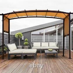 Modern 12' x 9' Pergola Kit Metal Frame Grape Gazebo & Canopy Cover