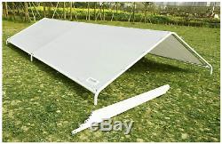 NEW Carport White Portable Garage Steel Frame Car Shelter Outdoor Car Canopy Gar