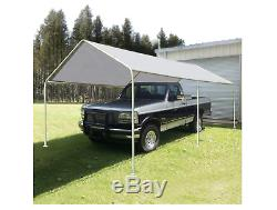 NEW Carport White Portable Garage Steel Frame Car Shelter Outdoor Car Canopy She