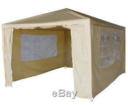 New 3 x 4m 120g Waterproof Outdoor PE Garden Gazebo Marquee Canopy Party Tent