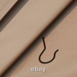 Octagonal Gazebo Patio Shade Covering Tan Fabric Canopy 10 x 12 Ft Steel Frame