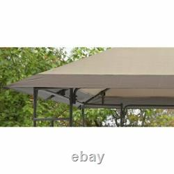 Outdoor Gazebo Toni 10 x 10 ft Canopy Steel Frame Garden Patio Yard