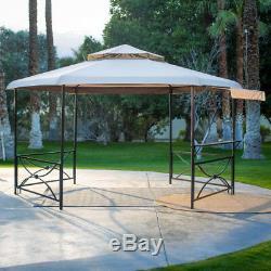 Outdoor Living Gazebo With Waterproof Canopy Patio Backyard Steel Furniture