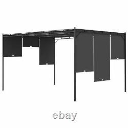 Outdoor Patio Garden Sun Shade Gazebo Canopy Shade Adjustable Curtain Shelter