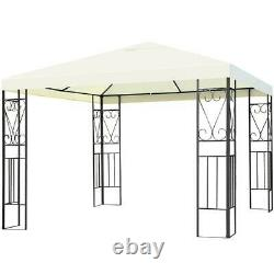 Outdoor Patio Gazebo Canopy Tent 10 x 10 Ft. Steel Frame Shelter Party Awning