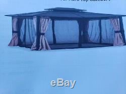 Outdoor gazebo 10 x 12 hardtop disassemble and pick up onlymsrp $1,200.00
