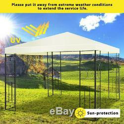 Outdoor home 10' x 10' Backyard Garden Awnings Patio Gazebo Canopy Tent Metal