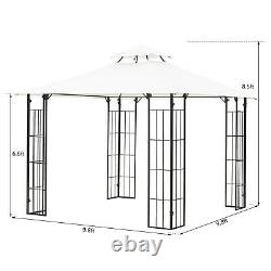 Outsunny 10' x 10' Outdoor Decorative Garden Gazebo Patio Canopy Steel Frame