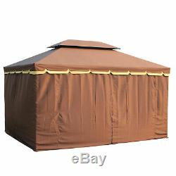 Outsunny 10'x13' Aluminum Gazebo Marquee Tent Canopy Pavilion Shelter Sidewalls