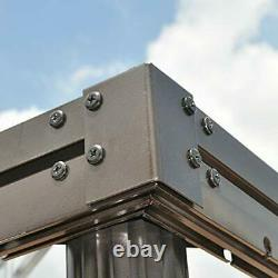 PURPLE LEAF 10' × 12' Outdoor Gazebo Garden Canopy Steel Frame Vented Soft Ca
