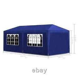 Party Tent 10'x13' Blue Outdoor Garden Wedding Patio Gazebo Canopy Tents Blue