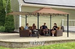 Patio Gazebo 11 ft. X 11 ft. 19-Gauge Water Resistant Canopy Roof Steel Frame