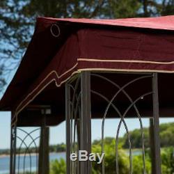 Patio Gazebo Tent Mesh Sidewalls 10 x 12 Steel Rust Proof Frame Corner Shelves A