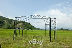 Patio Pergola Metal Gazebo Garden Outdoor Heavy Duty Steel Frame BBQ Canopy New