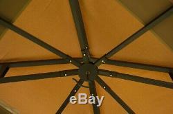 Patio Pergola Metal Gazebo Garden Outdoor Heavy Duty Steel Frame Yard BBQ Canopy