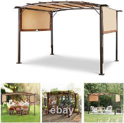 Pergola Canopy 11.8ft x 9.3ft Metal Frame Outdoor Garden Deck Patio Gazebo Shade