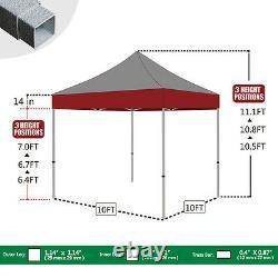 Pop Up Gazebo 10x10 Gray Patio Folding Canopy Instant Sunshade Shelter Tent