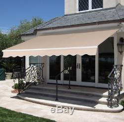 Retractable Awning Canopy Sun Shade Patio Door Window Garden Outdoor Backyard