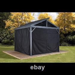 SOJAG Curtains for Sanibel Gazebo, 10 ft. X 10 ft. Black, Gazebo Not Included