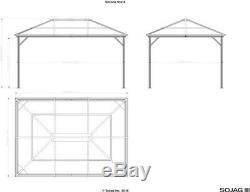 SOJAG Verona Hardtop Gazebo, 10 ft. X 14 ft. Dark Gray ShelterLogic