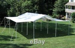 ShelterLogic 10×20 ft. Canopy 1.38 in. 8-Leg Frame White Cover Extension Kit
