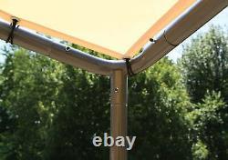ShelterLogic 10x10 Del Ray Gazebo Canopy Charcoal Frame Tan Cover