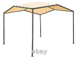 ShelterLogic 10x10 Pacifica Gazebo Canopy Charcoal Frame and Marzipan Tan Cover