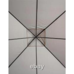 ShelterLogic Gazebo 11 ft. D x 11 ft. W Water-Resistant Cover Steel Frame