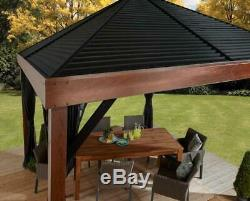 Sojag 12 x 12 ft. Valencia Wood Finish Gazebo with Mosquito Netting