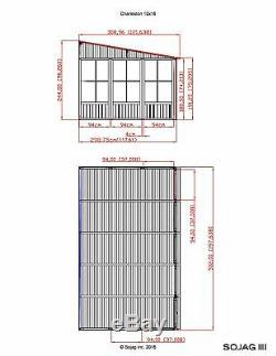 Sojag Charleston Aluminum Sunroom Kit Add a Room Solarium