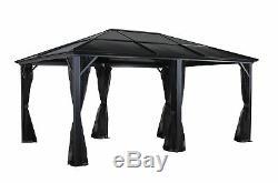 Sojag Meridien Gazebo 12 x 16 ft. Shelter Outdoor Steel frame +net
